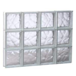 Clearly Secure 31 In X 23 25 In X 3 125 In Frameless Wave Pattern Non Vented Glass Block Window 3224sdc The Home Depot