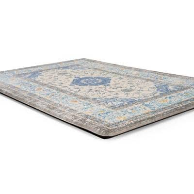 Blue 18 in. x 30 in. Persian Traditional Anti Fatigue Standing Mat