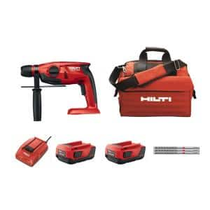 TE 2-A 22-Volt Lithium-Ion SDS-Plus Cordless Compact Rotary Hammer Kit