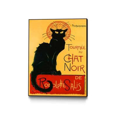 """""""Tourne Du Chat Noir"""" by Thophile Alexandre Steinlen Framed Abstract Wall Art Print 18 in. x 24 in."""
