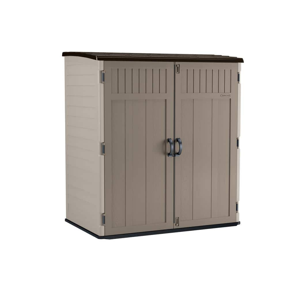 Suncast 5 Ft 10 5 In X 3 Ft 8 25 In X 6 Ft 5 5 In Xl Vertical Storage Shed Bms6202 The Home Depot