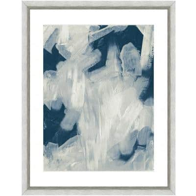 """""""Abstract brushstrokes I"""" Framed Archival Paper Wall Art (20 in. x 24 in. in full size)"""