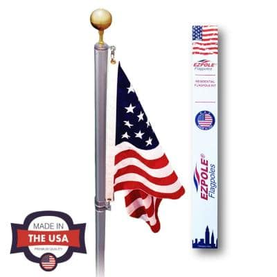Defender 21 ft. Sectional Flagpole Kit with Swivels