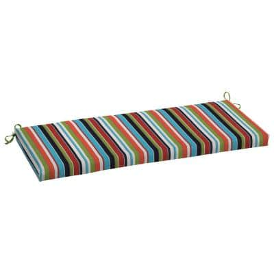 48 x 18 Sunbrella Carousel Confetti Outdoor Bench Cushion