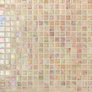 Breeze Silky Peach 12-3/4 in. x 12-3/4 in. x 6 mm Glass Mosaic Tile