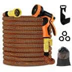 3/4 in. 100 ft. Expandable Garden Hose Flexible Water Hose with 10 Function Nozzle Durable 3750D Water Hose No Kink