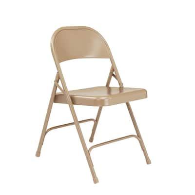 50 Series Beige All-Steel Folding Chair (4-Pack)