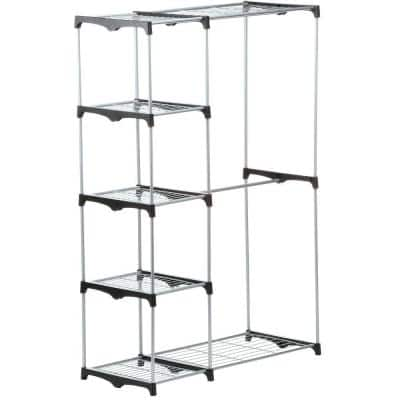 Chrome Steel Double Clothes Rack (45 in. W x 68 in. H)