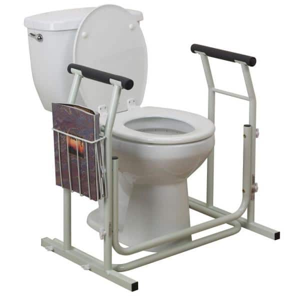Drive Medical Stand Alone Toilet Safety, Grab Bars For Bathroom Toilet