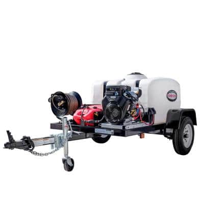 4200 PSI at 4.0 GPM VANGUARD V-Twin Cold Water Gas Pressure Washer Trailer