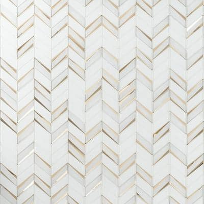 Mogo Roma 10.98 in. x 13.62 in. Polished Glass Mosaic Tile (1.03 sq. ft./Each)