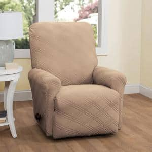 Stretch Double Diamond Recliner Slipcover