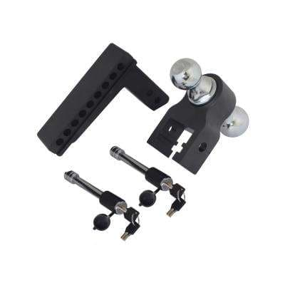 Blackout Series 0 in. - 8 in. Drop 10000 lbs. Capacity Class IV Drop Hitch - Adjustable (2 in. Plus 2-5/16 in.)