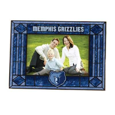 NBA -4 in. X 6 in. Gloss Multi Color Art Glass Picture Frame Grizzlies