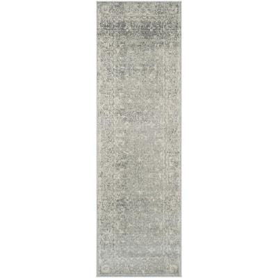 Evoke Silver/Ivory 2 ft. x 11 ft. Runner Rug