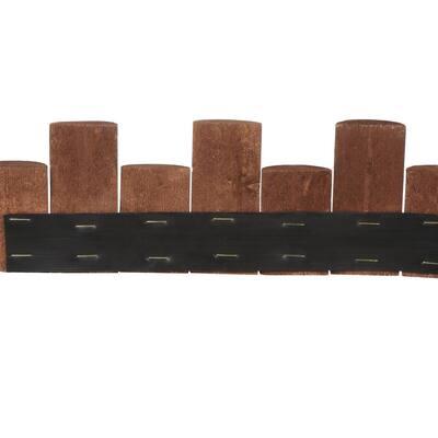 3 ft. Wooden Half-Log Edging