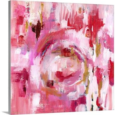 """Abstract Dream Pink Gold II"" by Pamela J. Wingard Canvas Wall Art"