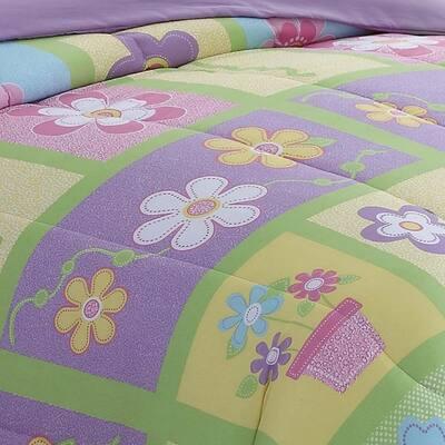 Sweet Yellow Floral Comforter Set