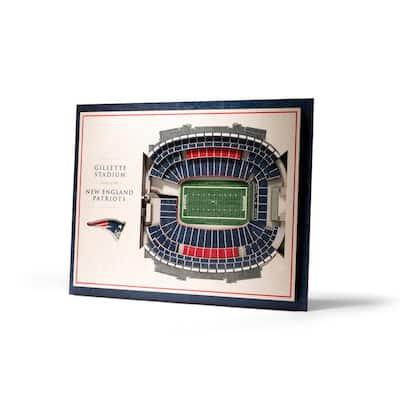 NFL New England Patriots 5-Layer Stadiumviews 3D Wooden Wall Art