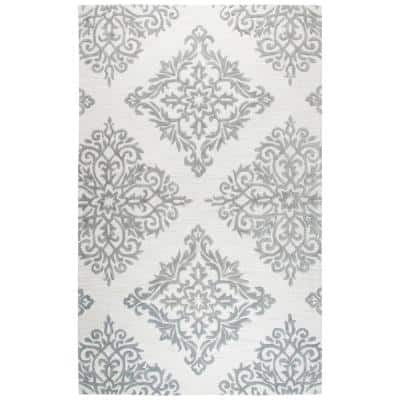 Lavine Gray/Ivory 9 ft. x 12 ft. Hand Tufted Wool Area Rug