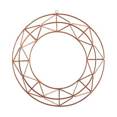 16 in. Geometric Copper Wall Decor