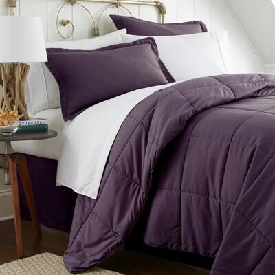 Performance 8-Piece Purple King Comforter Set