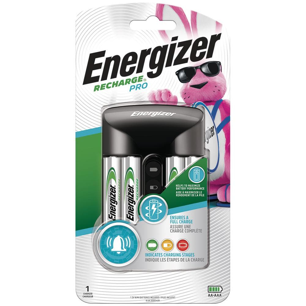 Energizer Recharge Pro Battery Charger for NiMH Rechargeable AA Batteries and AAA Batteries