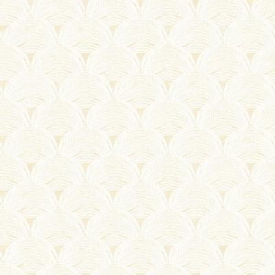Santiago Yellow Scalloped Yellow Wallpaper Sample