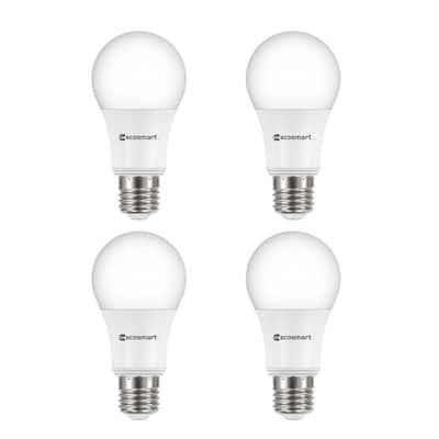 60-Watt Equivalent A19 Dimmable Energy Star LED Light Bulb Bright White (4-Pack)