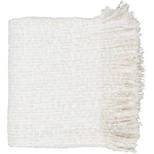Bely White Throw Blanket