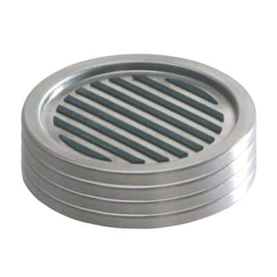 Linea Coasters in Brushed Stainless Steel (Set of 4)