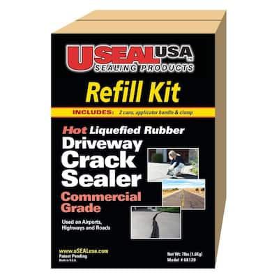 7 lb. Driveway Crack Sealer and Refill Kit
