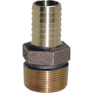 1-1/4 in. MPT X 1 in. Barb Brass Reducing Adapter Fitting
