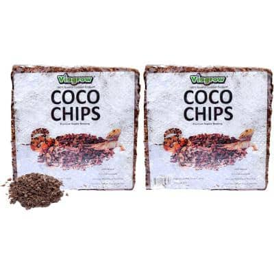 144 Qt./136 l/32 Gal. Premium Coconut Reptile Substrate Coco Chips (2-Pack)