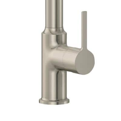 Metro Single-Handle Pull-Down Sprayer Kitchen Faucet with Solid Lever in Brushed Nickel