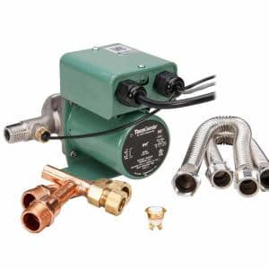 TacoGenie 1/40 HP Hot Water Recirculating Pump with Undersink Kit