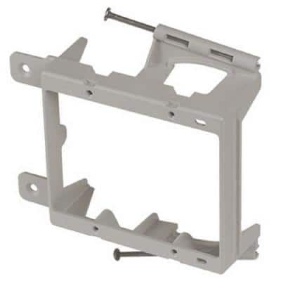 2-Gang Low-Voltage Nail-On Mounting Bracket for New Construction (12 per Package)