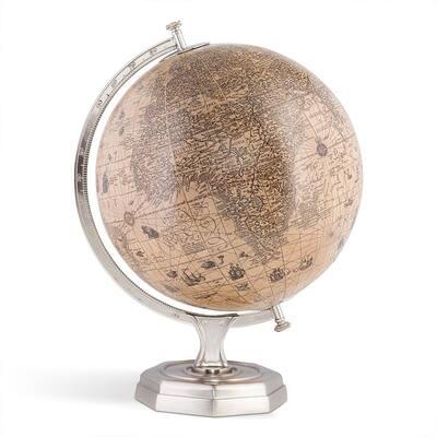 Jayde 17.30 in. Hondius Vintage Half Globe