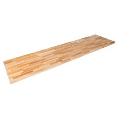 Unfinished Ash 6 ft. L x 25 in. D x 1.5 in. T Butcher Block Countertop