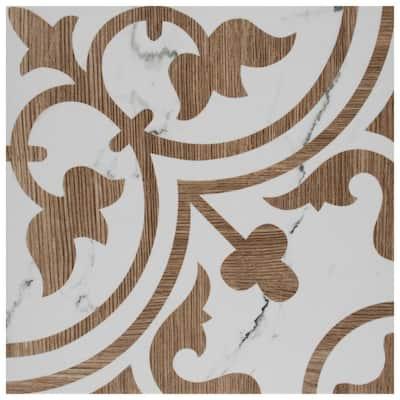 Arte Loire Noce 9-3/4 in. x 9-3/4 in. Porcelain Floor and Wall Tile (11.11 sq. ft./Case)