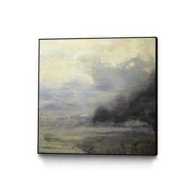 """""""Drifter"""" by Roland Benot Framed Abstract Wall Art Print 30 in. x 30 in."""