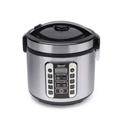 20-Cup Stainless Steel Digital Cool-Touch Rice Cooker and Food Steamer