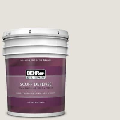 5 gal. #PPU18-08 Painters White Extra Durable Eggshell Enamel Interior Paint & Primer