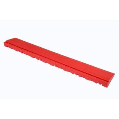 15.75 in. Racing Red Pegged Edging for 15.75 in. Modular Tile Flooring (2-Pack)