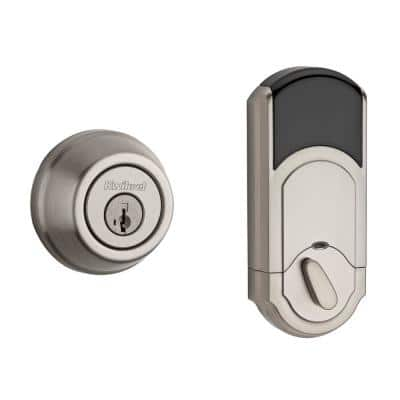 910 Signature Series Traditional Satin Nickel Deadbolt with Home Connect Technology