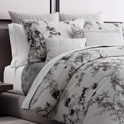 Charcoal Vines Cotton Duvet Cover