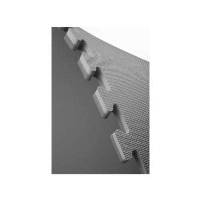 Black/Gray 24 in. x 24 in. EVA Foam Sport Multi-Purpose Reversible Interlocking Tiles (160 sq. ft. - 40 tiles)