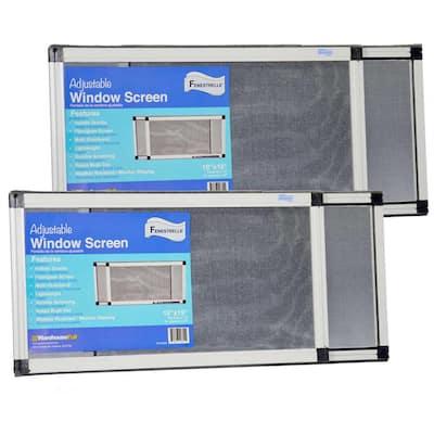 10 in. x 19 in. Fiberglass Expandable Aluminum Frame Screen, (2-Pack)