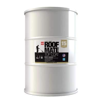 Roof Mate Top Coat 55 Gal. Charleston Green Acrylic Elastomeric Roof Coating (15-Year Limited Warranty)