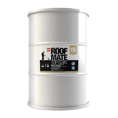 Roof Mate Top Coat 55 Gal. Desert Sand Acrylic Elastomeric Roof Coating (15-Year Limited Warranty)